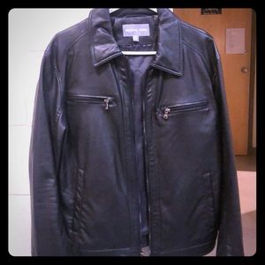 Men's Michael Kors leather jacket.